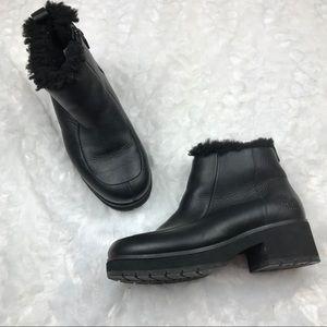 Ugg Brooklyn Black Leather Platform Ankle Boots